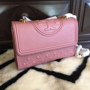 Tory Burch Fleming Pink Magnolia Shoulder Bag